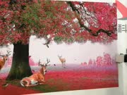 墙体彩绘机-华科恒润-梅花鹿3