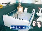 尚雷仕浪漫海景视窗情侣按摩浴缸,璀璨外观双人大空间,激爽恒温冲浪按摩,洁净香薰SPA
