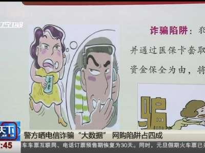 """[视频]警方晒电信诈骗""""大数据"""" 网购陷阱占四成"""