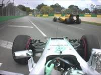 F1 澳大利亚FP3 罗斯伯格急刹车险追尾雷诺
