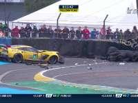 勒芒24小时耐力赛 64号赛车撞车回放