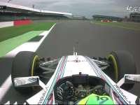 F1英国站FP3:威廉姆斯挣扎过弯