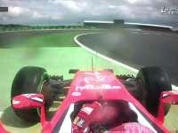 F1英国站正赛:莱科宁老司机冲出去找路了