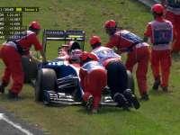 F1意大利站排位赛Q1:奥康停草坪充当割草机