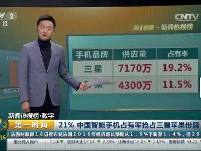 [视频]21%中国智能手机占有率抢占三星苹果份额