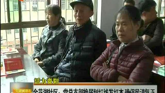 活力资阳:金花湖社区:党总支部换届划红线发红本 确保风清气正