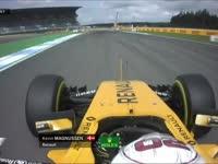 F1德国站FP1:马格努森锁死轮胎