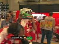 万红丛中一点绿!F1比利时站FP3:维特尔森林绿头盔
