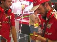 F1意大利站FP3:奥运冠军金牌亮相法拉利P房受追捧