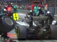 F1新加坡站正赛:汉密尔顿进站换极软胎试图反超Kimi