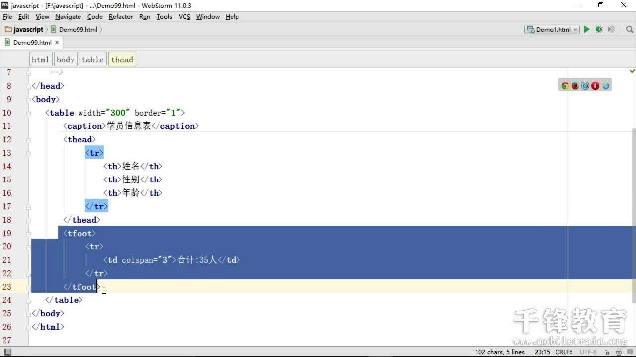 千锋教育HTML5开发视频_javascript基础语法102.mp4