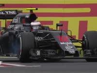 F1日本站FP3:巴顿刹车碟冒烟特写回放