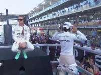 F1阿布扎比站赛前车手巡游全场回放