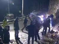 WRC蒙特卡洛站SS1:海登-帕登遭遇严重翻车