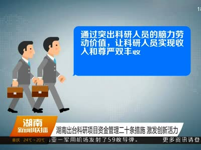 2017年04月07日湖南新闻联播