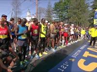波马男子精英组起跑 美国新老运动员激情碰撞
