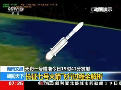 [视频]天舟一号瞄准今日发射:长征七号火箭飞行过程全解析