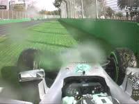 新赛季第一撞来自梅奔!澳洲站FP2罗斯伯格上墙