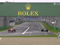 F1澳大利亚站FP2 莱科宁驾驶法拉利开始跑圈
