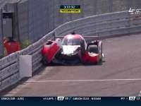 勒芒24小时耐力赛:44号马诺前罩突然脱落后撞上护墙