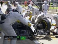 三停!F1英国站正赛:马萨率先进站