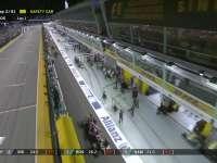 F1新加坡站正赛:博塔斯一号弯发生爆胎