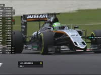 F1马来西亚站FP3:霍肯伯格报告轮胎温度不足