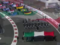 F1墨西哥站赛前表演:车手旗帜的阅兵仪式