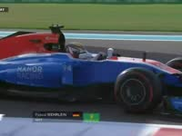 F1阿布扎比站FP3 维尔莱茵失误赛车冲出赛道