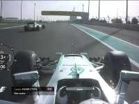 F1阿布扎比站FP3 汉密尔顿回场圈车载