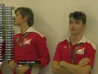 F1阿布扎比站排位赛Q1 GP3冠军勒克莱尔来到法拉利P房