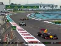 F1阿布扎比站正赛:里卡多出站后与莱科宁激烈缠斗