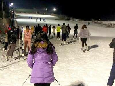 新乡五龙山响水河滑雪场