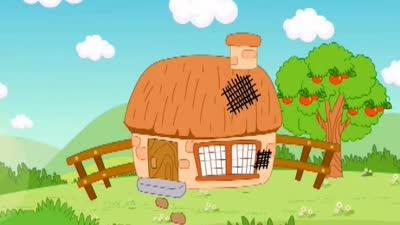 小猪修房子