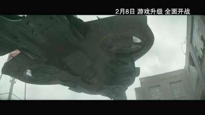 """《饥饿游戏3:嘲笑鸟(上)》皮锤烈觉版预告 皮塔锤弟齐问候""""画面太养眼"""""""