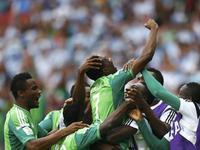 穆萨门前推射梅开二度 尼日利亚2-2扳平比分