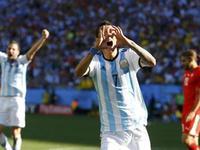 阿根廷1-0瑞士 梅西助攻迪马利亚加时绝杀