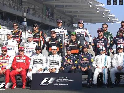 F1v车手车手|F1阿布扎比大奖赛视频安装仪式全冂巡游视频图片