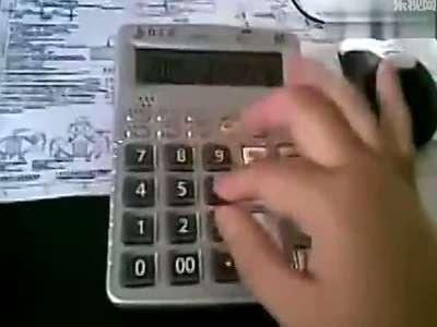 计算器弹奏丑八怪谱子