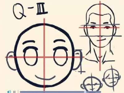 飞盒艺术派q版人物头部的画法