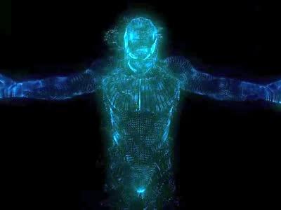 震撼荧光人物特效通用片头会声会影视频背景素材m37