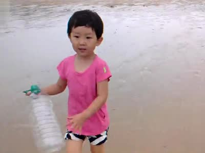 然然-大连长海县小长山岛金沙滩浴场