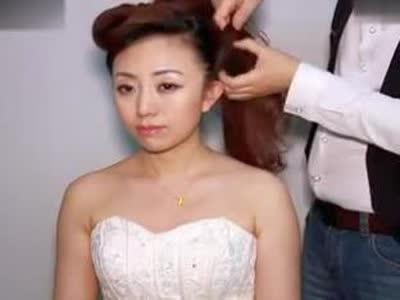 新娘盘发视频 小公主韩式 盘发造型 编发教学