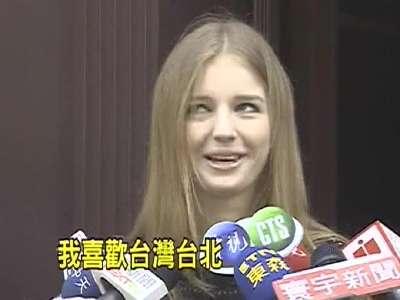 地铁金发美女 18岁俄罗斯女模