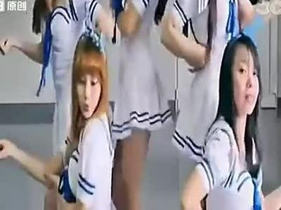 舞蹈教学现代舞 韩国美女